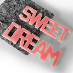 Earrings Lettering_Sweet Dream