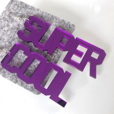 Orecchini Lettering_Super Cool