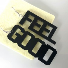 Earrings Lettering_Feel Good