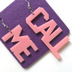 Earrings Lettering_Call Me