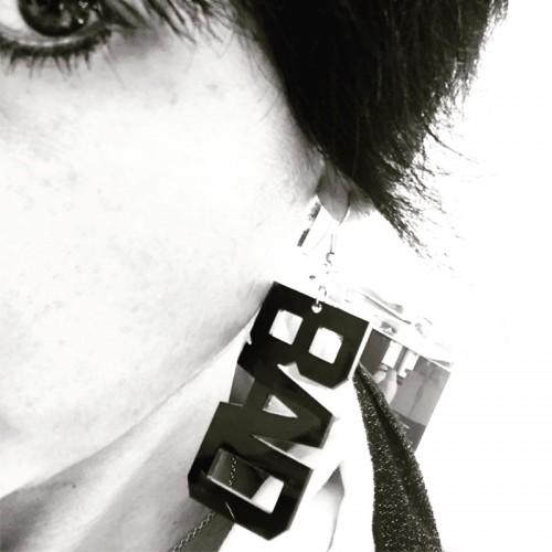 Earrings Lettering_Bad Girl